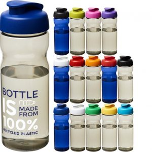 Image showing the colours of 650ml Flip Top Recycled Branded Water Bottles from Eco Promos