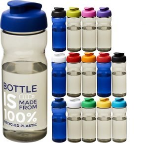 Image showing 650ml Recycled Branded Water Bottle from Eco Promos