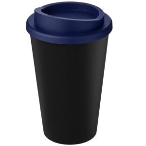 Image showing Americano Recycled Branded Coffee Cup from Eco Promos in Black/Blue