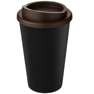 Image showing Americano Recycled Branded Coffee Cup from Eco Promos in Black/Brown