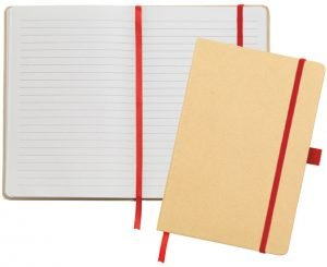 Image showing the interior pages of the Broadstairs Branded Recycled Notebooks from Eco Promos
