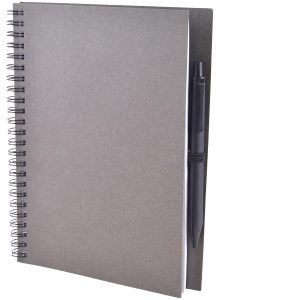 Image showing the Black Colour for Intimo Recycled Branded Wiro Notebooks from the Eco Promos Website