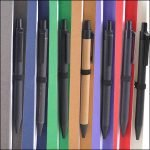 Image showing the Recycled Pens included with the Intimo Recycled Branded Wiro Notebooks from the Eco Promos Website