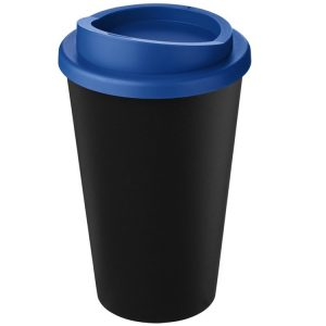 Image showing Americano Recycled Branded Coffee Cup from Eco Promos in Black/Mid Blue