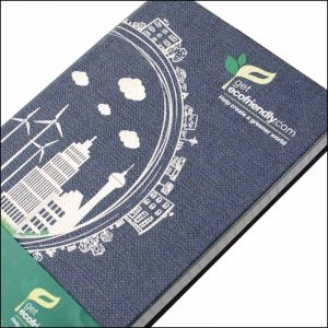 Image of Nature 100% Recyclable Branded Notebooks Digitally Printed from Ecopromos Website