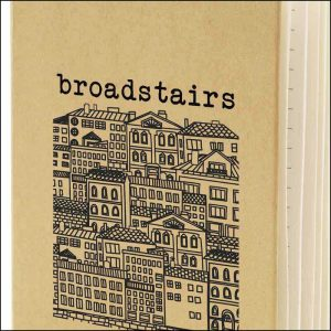 Image shot spot print logo on Broadstairs Branded Recycled Notebooks from Eco Promos