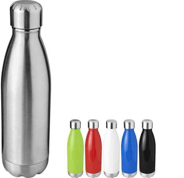 Branded Metal Water Bottles from Eco Promos available in 6 Gloss Colours