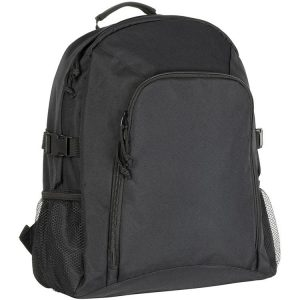 Chillenden Recycled Branded Backpacks from Eco Promos available in two corporate colours including Black.