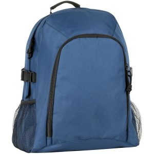 Chillenden Recycled Branded Backpacks from Eco Promos available in two corporate colours including Navy.