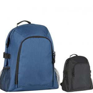 Chillenden Recycled Branded Backpacks from Eco Promos available in two corporate colours including Black & Navy.