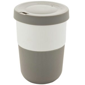 Image showing 380ml Eco Friendly Coffee Cups from Eco Promos, available in Grey/White