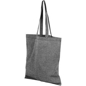 5oz Pheebs Recycled Branded Tote Bags from Eco Promos available in Heather Black