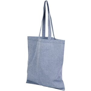 5oz Pheebs Recycled Branded Tote Bags from Eco Promos available in Heather Blue
