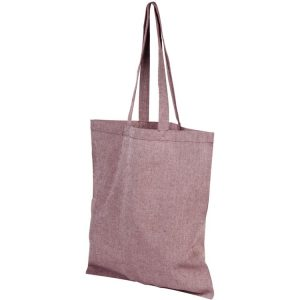 5oz Pheebs Recycled Branded Tote Bags from Eco Promos available in Heather Maroon