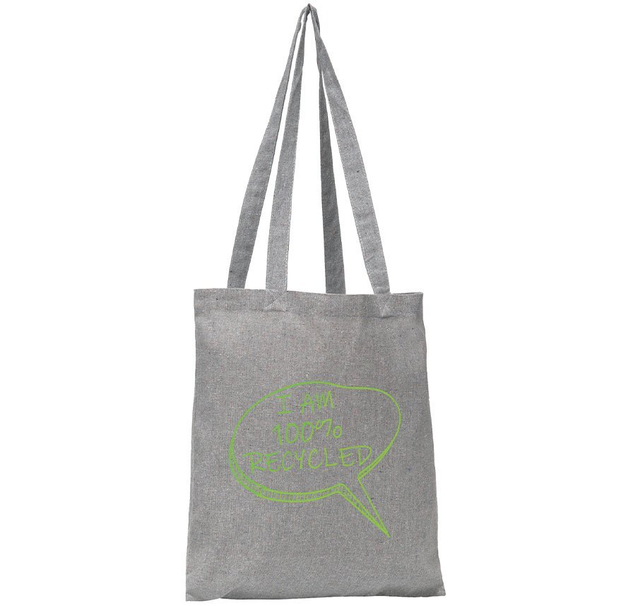 Newchurch Recycled Branded Tote Bags from Eco Promos. One of the best eco-friendly promotional products.