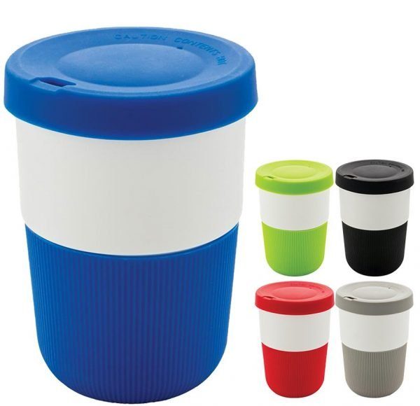 Image showing 380ml Eco Friendly Coffee Cups from Eco Promos, available in 5 colours