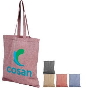 Group Image of 5oz Pheebs Recycled Branded Tote Bag, available in 5 colours from Ecopromos