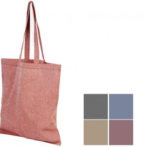 5oz Pheebs Recycled Branded Tote Bags from Eco Promos available in 5 Colours