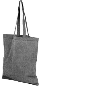Image of Heather Black 5oz Pheebs Recycled Branded Tote Bag, from Ecopromos.co.uk