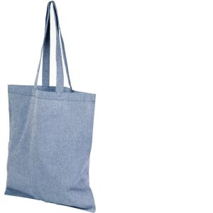 Image of Heather Blue 5oz Pheebs Recycled Branded Tote Bag, from Ecopromos.co.uk