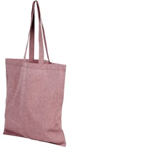 Image of Heather Maroon 5oz Pheebs Recycled Branded Tote Bag, from Ecopromos.co.uk