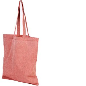 Image of Heather Red 5oz Pheebs Recycled Branded Tote Bag, from Ecopromos.co.uk