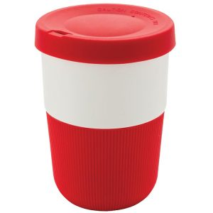 Image showing 380ml Eco Friendly Coffee Cups from Eco Promos, available in Red/White