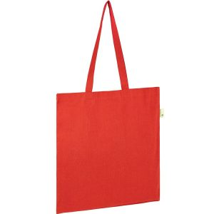 5oz Seabrook Recycled Branded Tote Bags from Eco Promos available in 6 Corporate Colours including Red