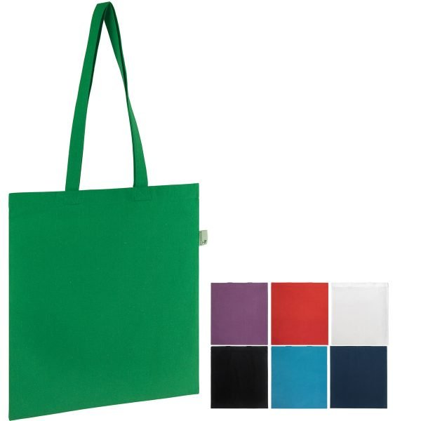 Seabrook Branded Recycled Tote Bags available in 7 colours from Ecopromos