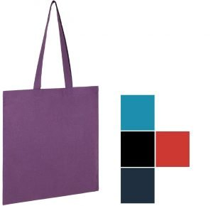 5oz Seabrook Recycled Branded Tote Bags from Eco Promos available in 6 Corporate Colours