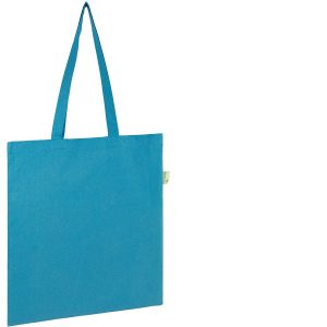 Seabrook Branded Recycled Tote Bags available in Bright Blue