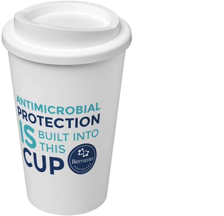 Americano Pure antimicrobial branded coffee cups from Eco Promos