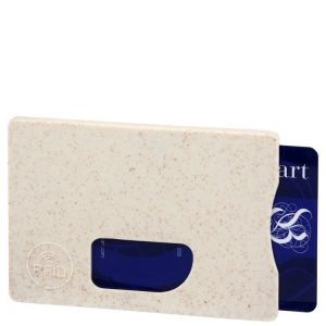 Beige Wheat Straw Eco Friendly Promotional RFID Card Protector