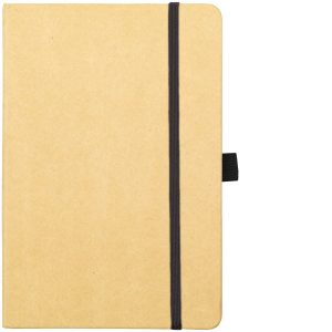 Image Showing Natural/Black Notebook available for Broadstairs Eco Recycled Branded Notebooks from Eco Promos