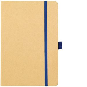 Image Showing Natural/Blue Notebook available for Broadstairs Eco Recycled Branded Notebooks from Eco Promos