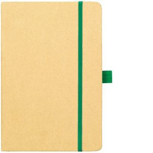 Image Showing Natural/Green Notebook available for Broadstairs Eco Recycled Branded Notebooks from Eco Promos