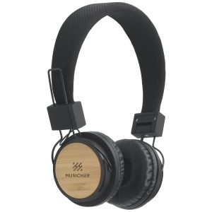 Quality Bamboo Promotional Headphones from Ecopromos