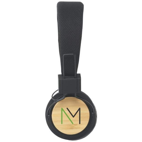 Printed Bamboo Promotional Headphones from Ecopromos