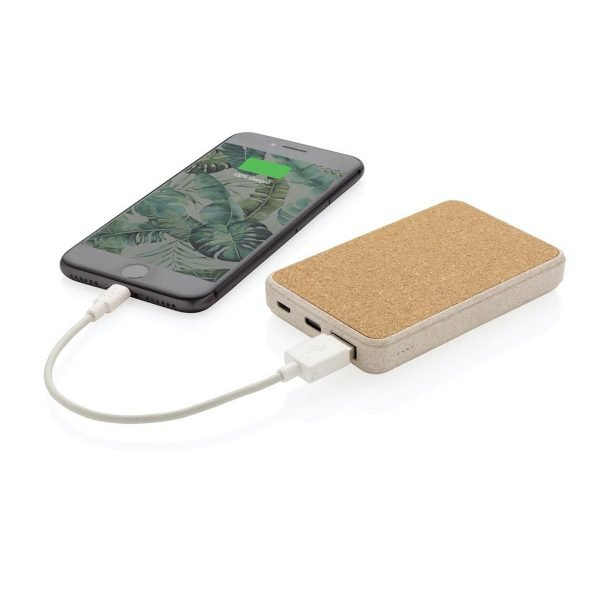 Image showing Eco 5000mah branded power banks charging a mobile phone