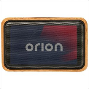 Eco Wooden Branded Speaker with Digital Print Logo to Grill