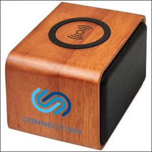 Pad Print on Eco Wooden Branded Speaker from Eco Promos