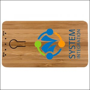 Grove Bamboo Branded Power Bank Digitally Print by Eco Promos
