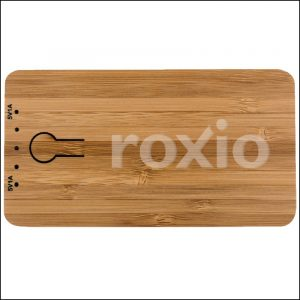 Engraved logo on Grove Bamboo Branded Power Bank from Eco Promos