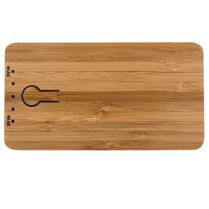 Image of the top of Grove Bamboo branded Power Banks