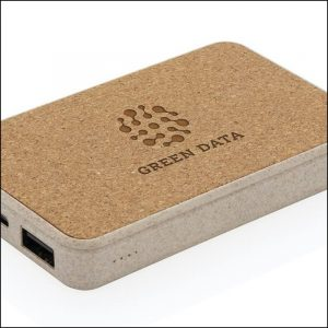 Laser Engraved logo on Eco 5000mah branded power bank