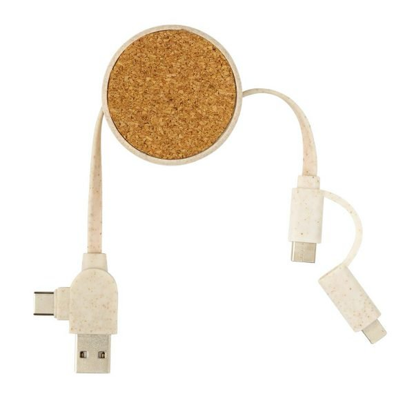 Eco Promotional Charging Cable side view