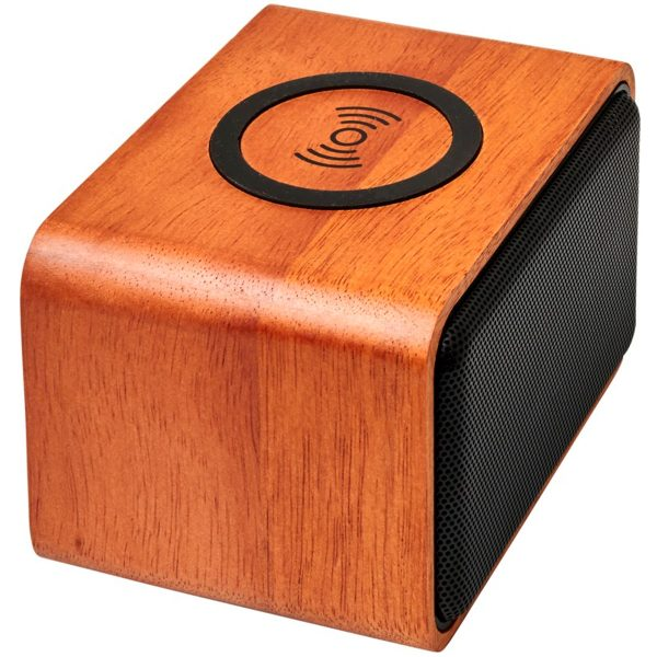 Side View of Wooden Eco Branded Speaker