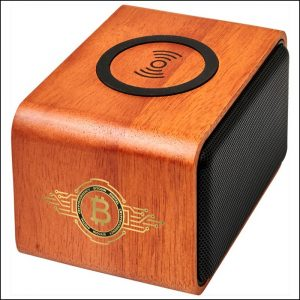 Digital Printed Logo on Eco Wooden Branded Speaker from Eco Promos