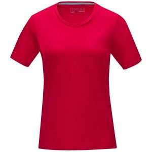 Red Women's Azurite Eco Promotional Tshirt from Eco Promos, your source for Eco Promotional Clothing