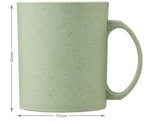 Mint Pecos 350ml Wheat Straw printed mugs from Eco Promos.